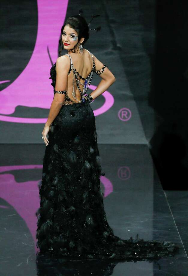 Miss New Zealand Holly Cassidy presents her outfit, during the national costume show at the 2013 Miss Universe pageant in Moscow, Russia, on Sunday, Nov. 3, 2013. Photo: Pavel Golovkin, Associated Press / AP