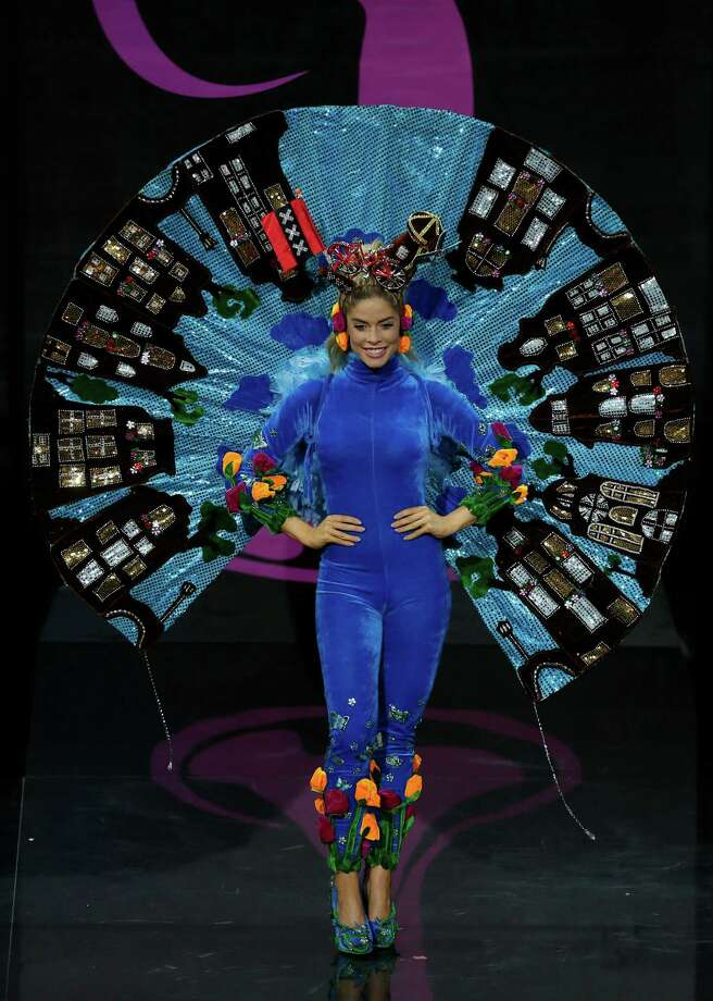 Miss Netherlands Stephanie Tency presents her outfit, during the national costume show at the 2013 Miss Universe pageant in Moscow, Russia, on Sunday, Nov. 3, 2013. Photo: Pavel Golovkin, Associated Press / AP