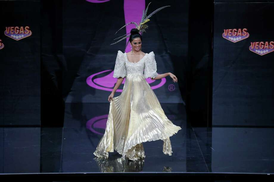 Miss Philippines Ariella Arida presents her outfit, during the national costume show at the 2013 Miss Universe pageant in Moscow, Russia, on Sunday, Nov. 3, 2013. Photo: Pavel Golovkin, Associated Press / AP
