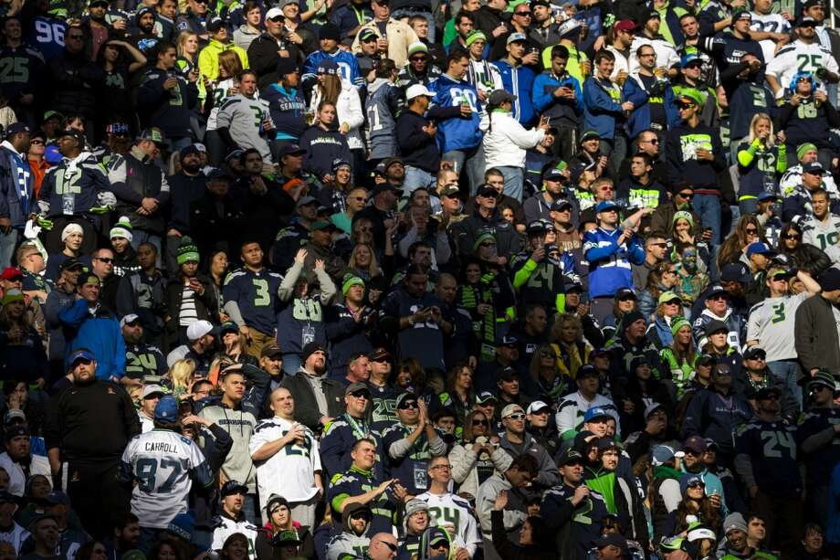 Seahawks fans crowd the upper levels for a game against the Buccaneers Sunday, Nov. 3, 2013, at CenturyLink Field in Seattle. The Seahawks beat the Buccaneers 27-24 during overtime in the biggest comeback in franchise history. (Jordan Stead, seattlepi.com) Photo: JORDAN STEAD, SEATTLEPI.COM
