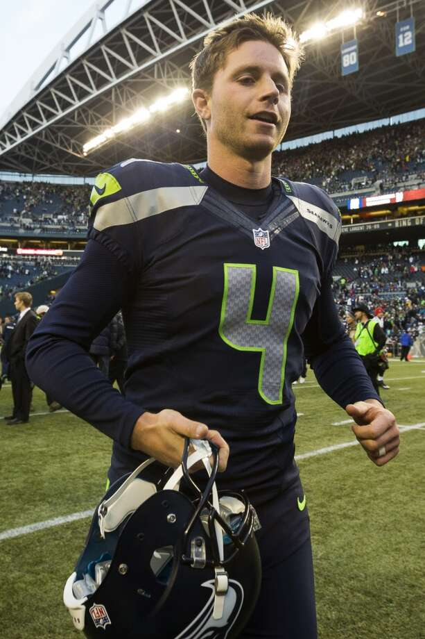 Seahawks kicker Steven Hauschka leaves the field after kicking in the winning field goal against the Buccaneers in overtime Sunday, Nov. 3, 2013, at CenturyLink Field in Seattle. The Seahawks beat the Buccaneers 27-24 in the biggest comeback in franchise history. (Jordan Stead, seattlepi.com) Photo: JORDAN STEAD, SEATTLEPI.COM