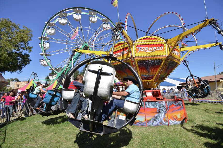 Carnival rides were a big attraction at Wurstfest in New Braunfels on Sunday afternoon, Nov. 3, 2013. Photo: Robin Jerstad, For The San Antonio Express-News
