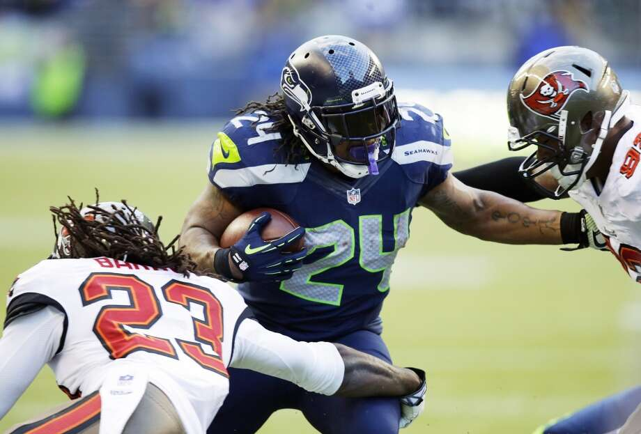 Great: Marshawn LynchAfter one half of play against the Buccaneers, it seemed the same as the previous week. Marshawn Lynch had just six carries for 49 yards and the Seahawks offense looked lost. But in the fourth quarter, when it truly mattered, Seattle went back to Lynch and the Skittles-lover wound up with 125 yards rushing on 21 carries, tacking on four catches for another 16 yards.   What Lynch showed at the end was a physicality and toughness that has been a trademark of this Seahawks offense. When it mattered most, the Hawks put the load on Lynch's back and let him win the game. They're best offensively when they rely on Beast Mode. Photo: Stephen Brashear, Associated Press