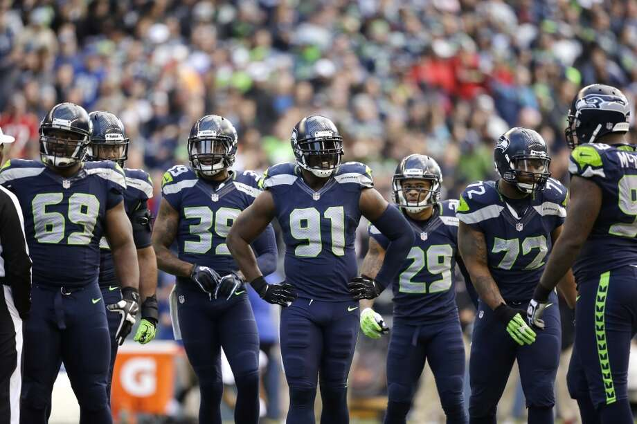 Goat: Seattle's front four  Entering last week's game against the Rams, the Seahawks' rushing defense was among the best in the league, allowing around 91 yards per game on the ground. The last two weeks, they've given up more than 200 rushing yards to teams starting rookie backs.   Similarly, the pass-rush was lacking for long stretches of Sunday's game. Seattle recorded one sack early — in Tampa Bay's first drive — and another late, when Seattle had all the momentum and could pin their ears back. Yet in the heart of the game, when the Bucs were dominating, Seattle's front four didn't deliver much push or pass-rush at all.  The front four isn't a bad unit, and we know that, but the Hawks' defensive line will have to stiffen up with running backs like Adrian Peterson and Frank Gore still ahead on the schedule. Photo: Elaine Thompson, Associated Press