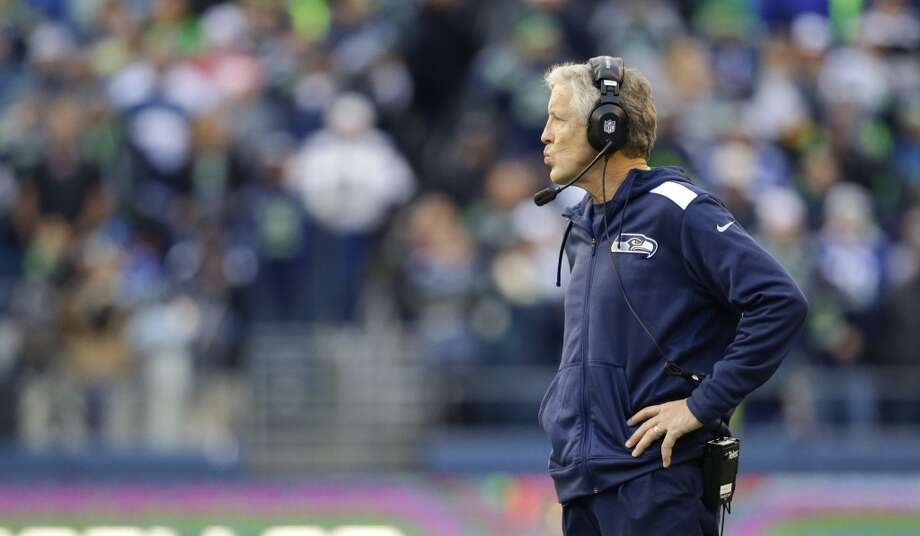 "Goat: Head coach Pete Carroll  One thing many people might forget about professional sports is the astronomical talent of every player on the field – and preparation is critical to getting an edge over the other talent. It appears, however, that Seattle's preparedness has recently fallen short of what is needed in the NFL. The responsibility falls on head coach Pete Carroll and the rest of his staff to have the Seahawks up to speed.  The Seahawks have played nine games this season and started in six of them flat (the three ""good"" starts were versus Jacksonville, at Indianapolis and at Arizona). Coming off last Monday's should-have-been-a-loss victory in St. Louis, the run defense needed to improve, but it didn't. The offensive line needed to improve, and while it didn't make many glaring mistakes, it didn't look amazing either.   If the Seahawks keep starting like this and keep lagging in their adjustments from previous games, the playoffs will be a severe challenge. And they will have a much harder time overcoming poor starts in the playoffs. Photo: Elaine Thompson, Associated Press"