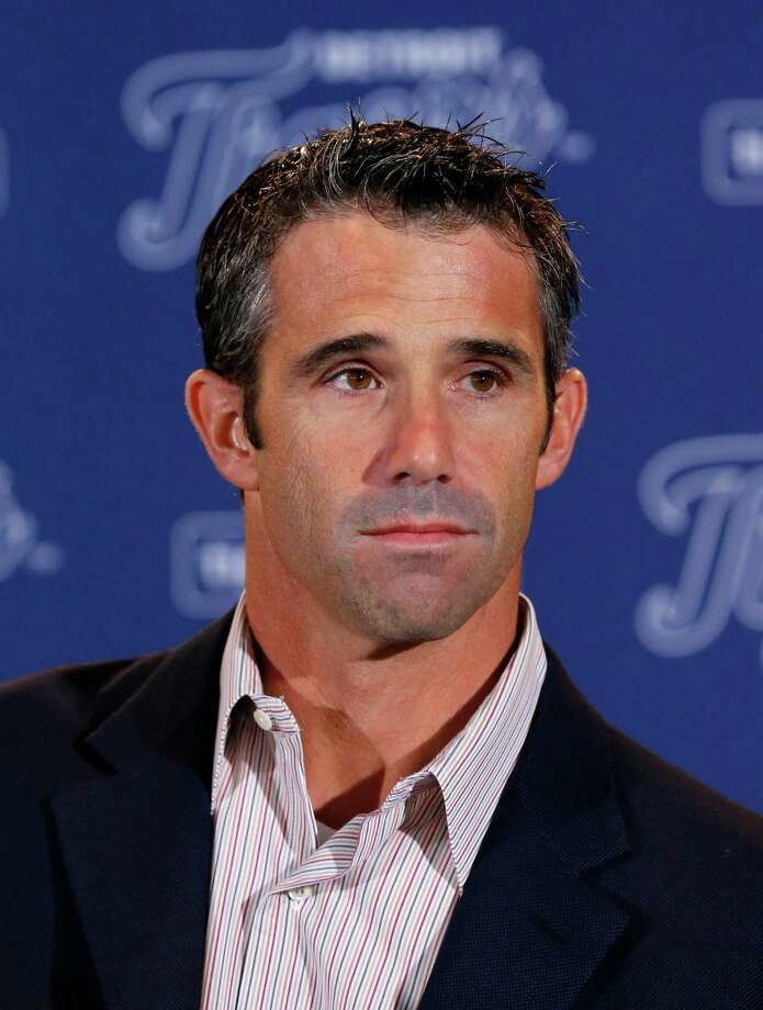 Brad Ausmus is introduced as the new Detroit Tigers manager during a news conference in Detroit Sunday, Nov. 3, 2013. Ausmus replaces Jim Leyland who stepped down as manager. AP Photo/Paul Sancya) ORG XMIT: MIPS105 Photo: Paul Sancya / AP