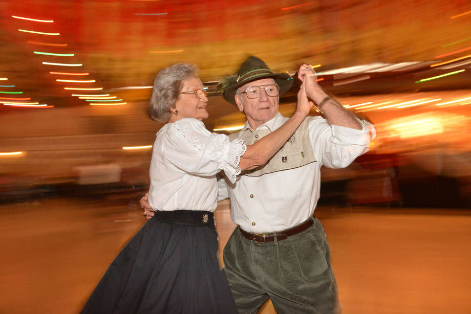 Doris and Pat Mollenhauer dance during Wurstfest in New Braunfels. Photo: Photos By Robin Jerstad / For The San Antonio Express-News