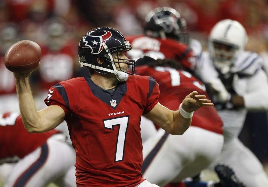 Texans quarterback Case Keenum (7) throws a pass. Photo: Brett Coomer, Houston Chronicle