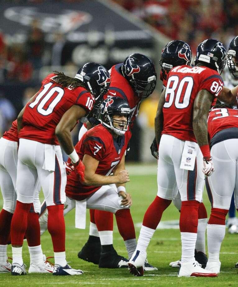 Texans quarterback Case Keenum (7) breaks the offensive huddle. Photo: Cody Duty, Houston Chronicle