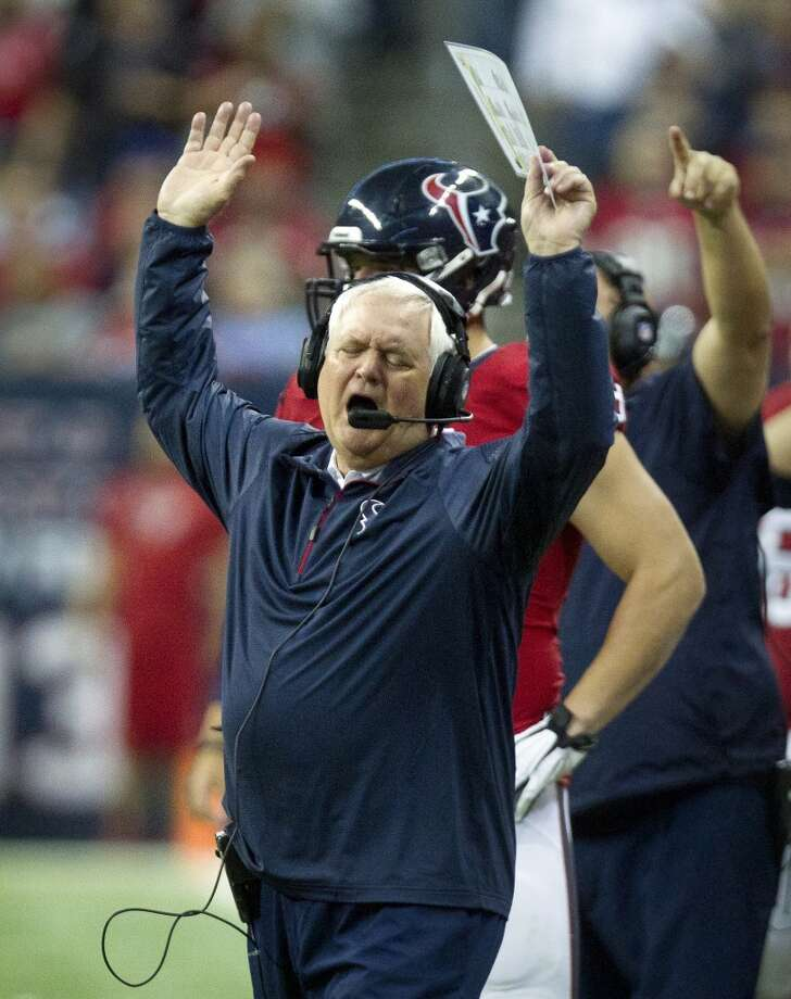 Texans defensive coordinator Wade Phillips reacts to a call during the second half. Photo: Cody Duty, Houston Chronicle