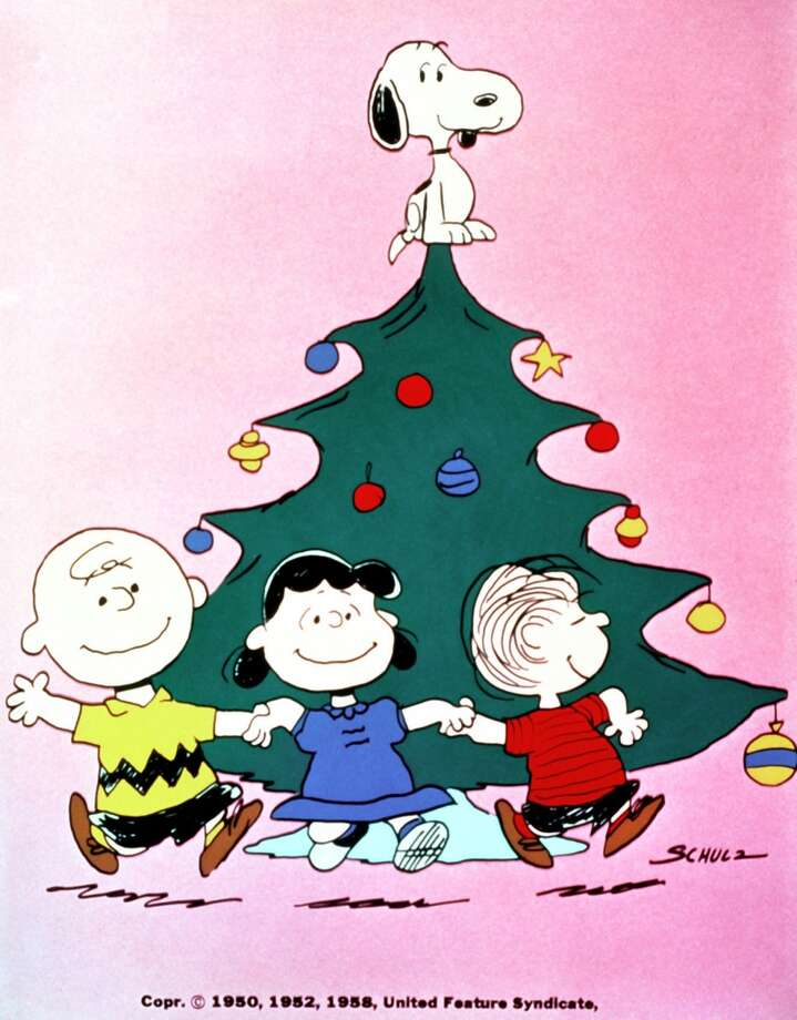 Snoopy, top, Charlie Brown, left to right, Lucy and Linus, in 'A Charlie Brown Christmas.' (GNS Photo) Photo: NONE, GPN