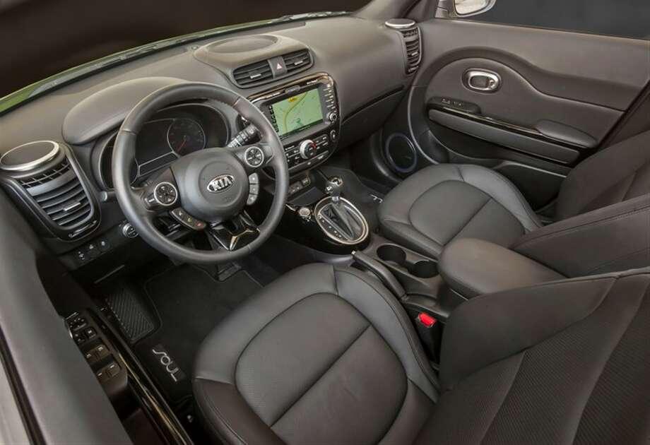 Leather interior gives it a plush, upscale look. Photo: Kia