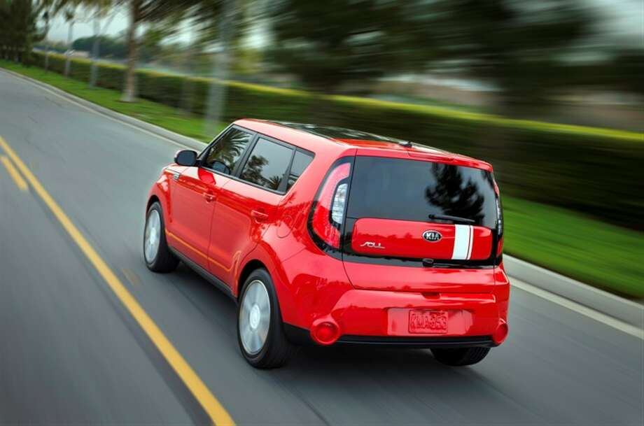 Red, from the rear. Photo: Kia