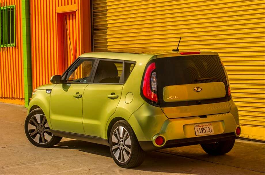Yes, you can still get a Soul in that Alien Green color. Photo: Kia
