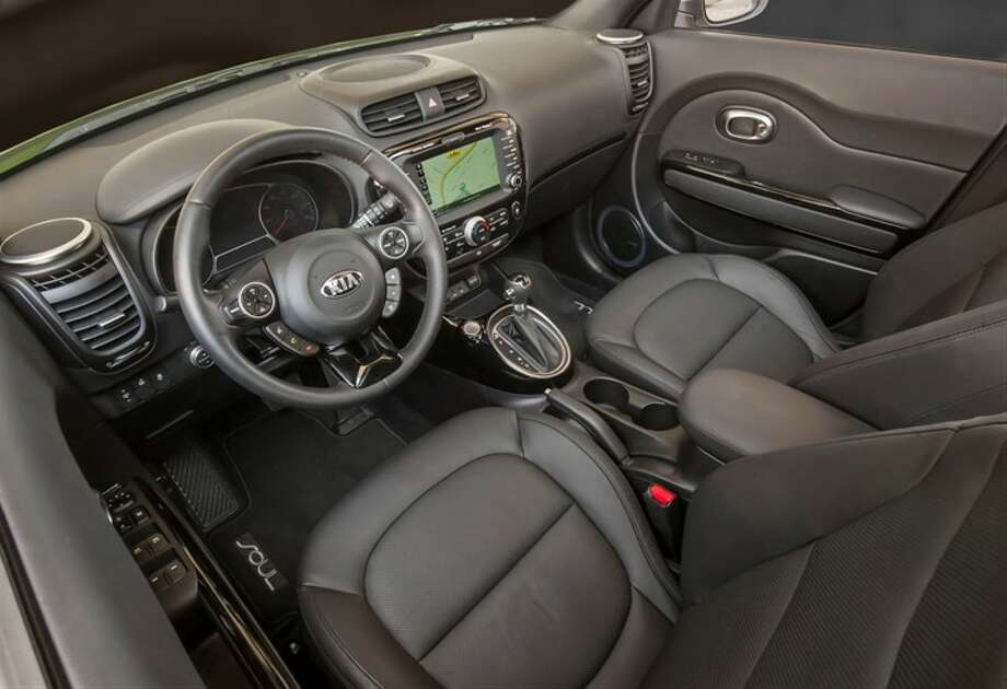 Leather interior gives it a plush, upscale look. Photo: Kia