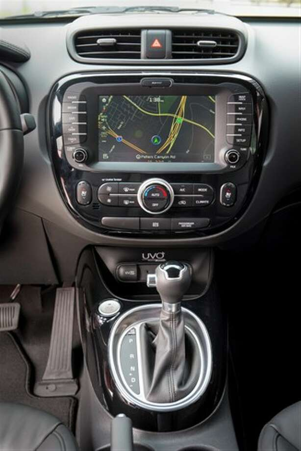 The button layout is intuitive around the touchscreen, but there are quite a few of them. Photo: Kia