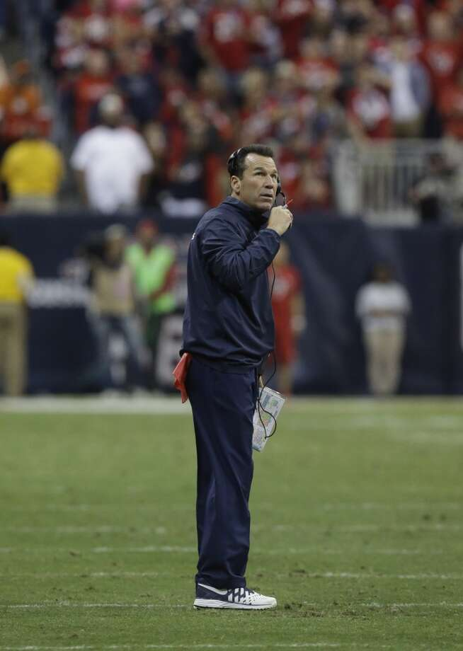 Houston Texans head coach Gary Kubiak during the second quarter of an NFL football game against the Indianapolis Colts, Sunday, Nov. 3, 2013, in Houston. (AP Photo/Patric Schneider) Photo: Associated Press