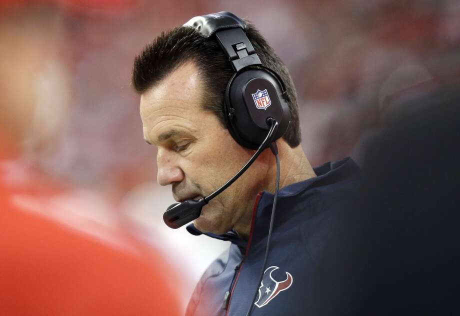 Houston Texans head coach Gary Kubiak watches from the sidelines during the first quarter of an NFL football game against the Indianapolis Colts, Sunday, Nov. 3, 2013, in Houston. (AP Photo/Patric Schneider) Photo: Associated Press