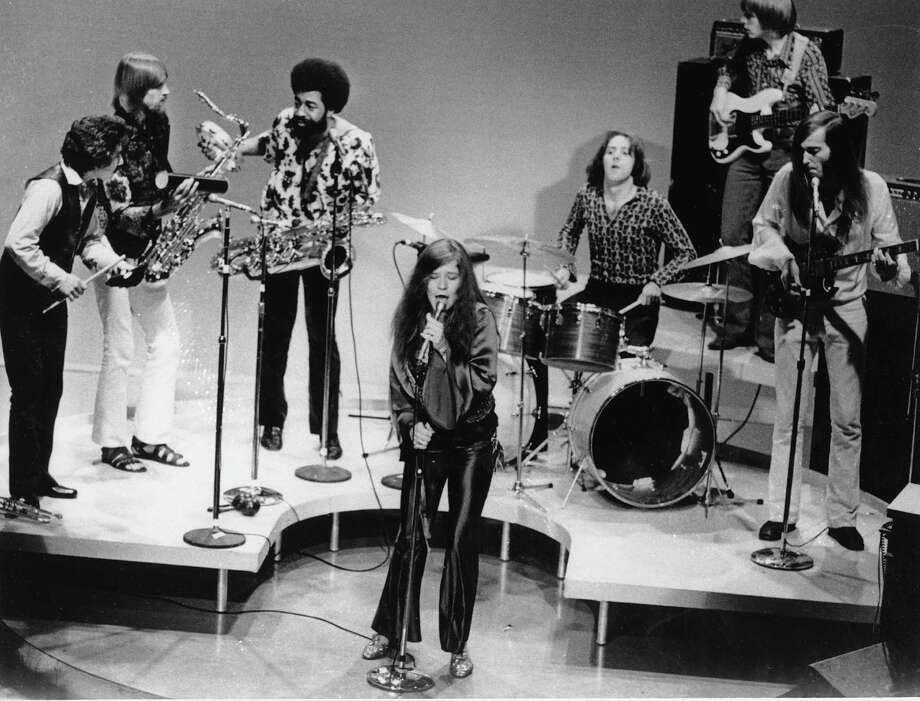 Rock-folk singer Janis Joplin performs with her group in Dec. 1969 at an unknown location.  (AP Photo) / AP1969