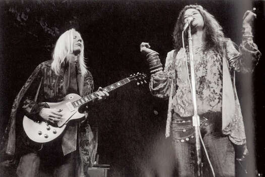 "Johnny Winter and Janis Joplin on stage at Madison Square Garden in 1969. Photo courtesy of the book ""Raisin' Cain"" The Wild and Raucous Story of Johnny Winter"", copyright 2010 by Mary Lou Sullivan Photo: Courtesy"