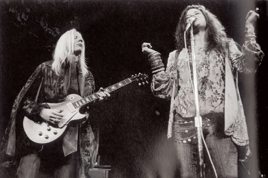 """Johnny Winter and Janis Joplin on stage at Madison Square Garden in 1969. Photo courtesy of the book """"Raisin' Cain"""" The Wild and Raucous Story of Johnny Winter"""", copyright 2010 by Mary Lou Sullivan Photo: Courtesy"""