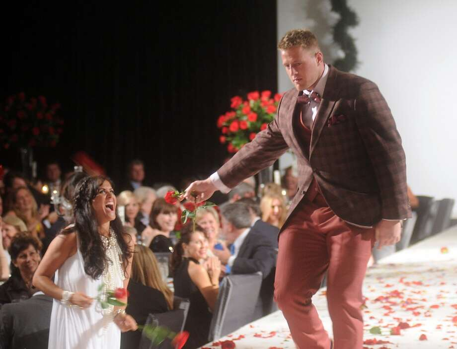 J.J. Watt walks the runway. Photo: Dave Rossman, For The Houston Chronicle