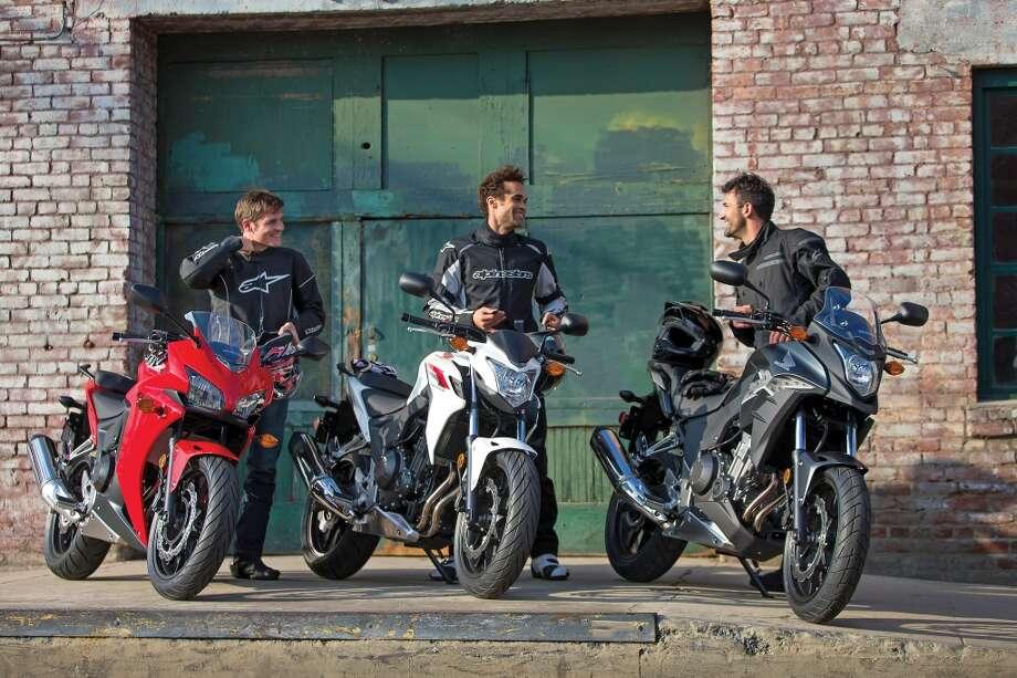 2013 Honda CBR500R, CB500F and CB500X. Photo: Wieck