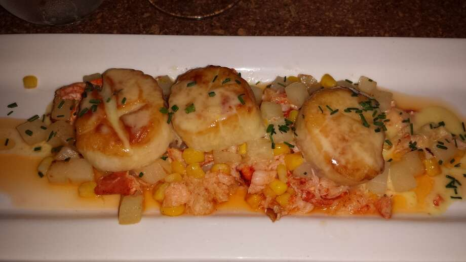 Scallops at Maestro's at the Van Dam sent by Suzanne Mangini.