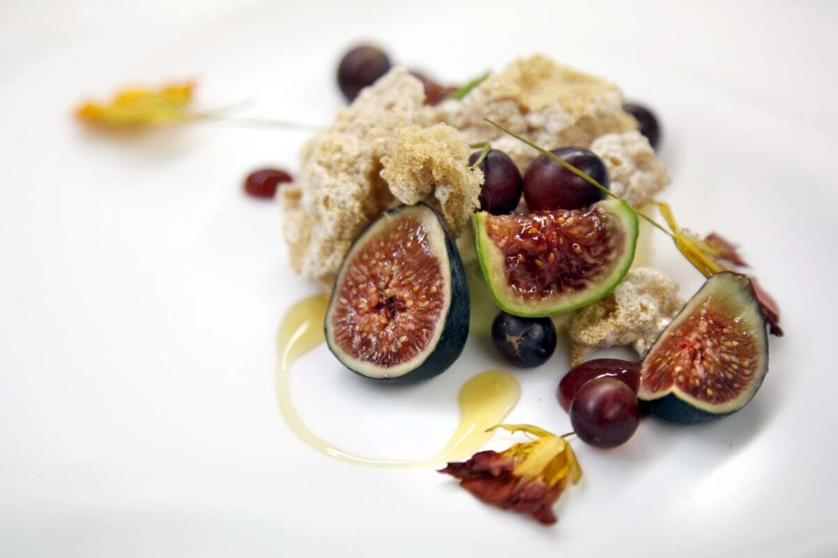 The fig pudding at Madrona Manor Restaurant in Healdsburg.