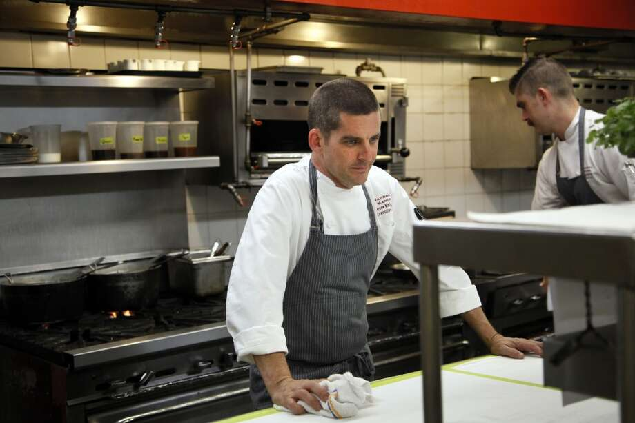 Executive chef Jesse Mallgren works in the kitchen at Madrona Manor . Photo: Preston Gannaway, Special To The Chronicle