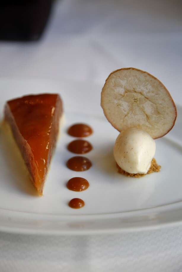The compressed caramel apple tart at Fairmont Sonoma Mission Inn's Sante. Photo: Preston Gannaway, Special To The Chronicle