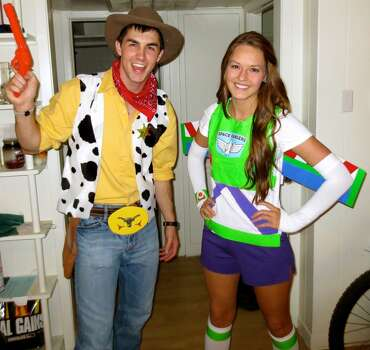 Me, Allison, and my boyfriend Cody dressed up as a couple of Andy's best pals, Buzz and Woody. Buzz's wooden wings even went up and down like a real toy!