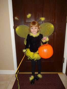 Our daughter the bumblebee fairy princess!