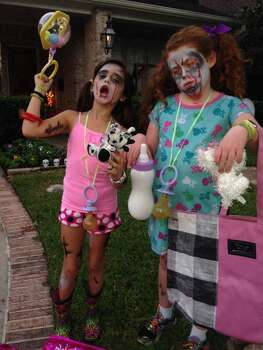 Abby & Noa became Zombie babies on their own (9 y.o.) and wanted teddy bears to decapitate!