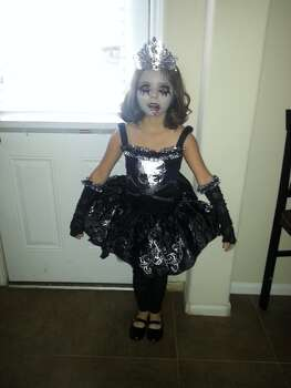 Mylah R. Gonzalez 7 years zomberina (zombie ballerina).  (Melissa Gonzalez)