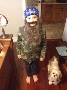 This is my daughter Vivian. Instead of something girly she wanted to be Duck Dynasty.