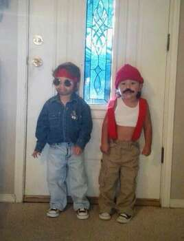 My Cousin's Kids, dressed as Cheech and Chong.