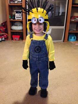 This is my 2year old son Marcus, he is dressed as a Minion from Despicable Me :)