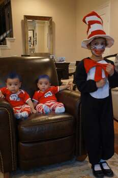 Aaliya (Cat), Aydin (Thing 1: he came out first) and Ayaan (Thing 2).