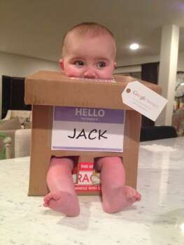 This is my son, Jack. In a Box.