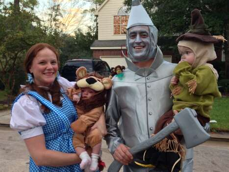 Our family was off to see the Wizard! Ethan was the scarecrow, Emily was the cowardly lion, dad was the Tin Man, and mom was Dorothy. A flying monkey also made an appearance. 