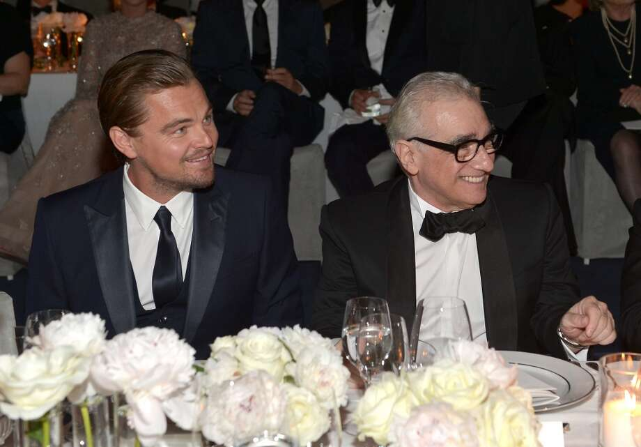 Art+Film Gala Co-Chair Leonardo DiCaprio and honoree Martin Scorsese, wearing Gucci, attend the LACMA 2013 Art + Film Gala honoring Martin Scorsese and David Hockney presented by Gucci at LACMA on November 2, 2013 in Los Angeles, California. Photo: Charley Gallay, Getty Images For LACMA