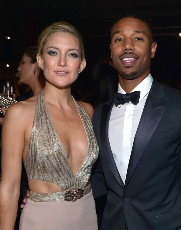 Kate Hudson (L) and Michael B. Jordan, wearing Gucci, attend the LACMA 2013 Art + Film Gala honoring Martin Scorsese and David Hockney presented by Gucci at LACMA on November 2, 2013 in Los Angeles, California.  (Photo by Charley Gallay/Getty Images for LACMA) Photo: Charley Gallay, Getty Images For LACMA