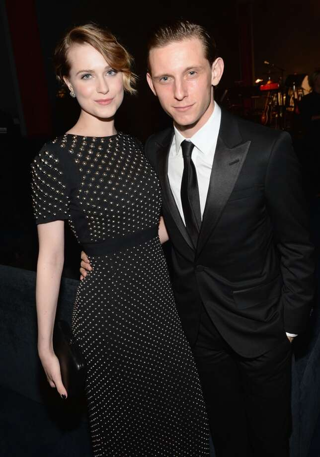 Actress Evan Rachel Wood (L) and actor Jamie Bell, wearing Gucci,  attend the LACMA 2013 Art + Film Gala honoring Martin Scorsese and David Hockney presented by Gucci at LACMA on November 2, 2013 in Los Angeles, California. Photo: Michael Buckner, Getty Images For LACMA