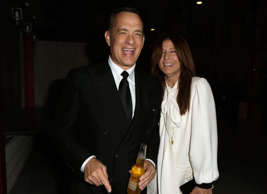 Actor Tom Hanks (L) and actress Catherine Keener attend the LACMA 2013 Art + Film Gala honoring Martin Scorsese and David Hockney presented by Gucci at LACMA on November 2, 2013 in Los Angeles, California.  (Photo by Jeff Vespa/Getty Images for LACMA) Photo: Jeff Vespa, Getty Images For LACMA