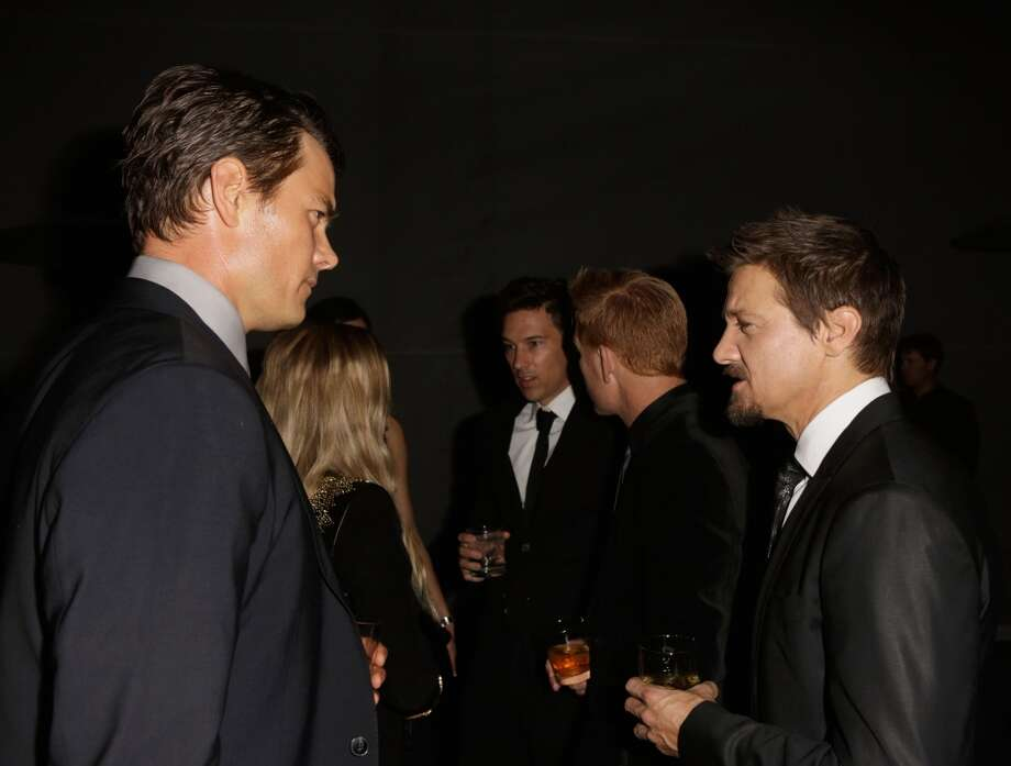 Actors Josh Duhamel (L) and Jeremy Renner attend the LACMA 2013 Art + Film Gala honoring Martin Scorsese and David Hockney presented by Gucci at LACMA on November 2, 2013 in Los Angeles, California.  (Photo by Jeff Vespa/Getty Images for LACMA) Photo: Jeff Vespa, Getty Images For LACMA