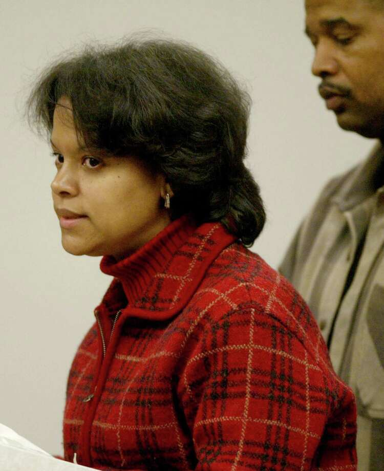 Sherry Garrett, a family member of Green River Killer victim Cynthia Hinds, addresses the court during the sentencing of Gary Ridgway December18, 2003 in Seattle, Washington. Ridgway recieved a life sentence, with out the possibility of parole, for killing 48 women over the past 20 years in the Green River Killer serial murder case. Photo: Pool, / / 2003 Getty Images