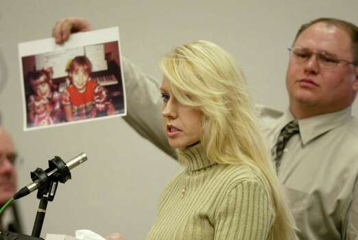 Virginia Graham, sister of Green River Killer victim Debra Estes, speaks in court during the sentencing of Gary Ridgway on Dec. 18, 2003 in Seattle. Ridgway received a life sentence, without the possibility of parole, for killing 48 women over the past 20 years in the Green River Killer serial murder case. Photo: Pool, / / 2003 Getty Images