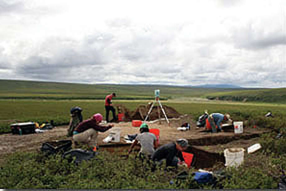 Excavation at the Serpentine site in Alaska. (TAMU photo)