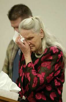 Joan Mackie, mother of Green River Killer victim Cindy Smith, cries at the sentencing of Gary Ridgway. Photo: Pool, / / 2003 Getty Images